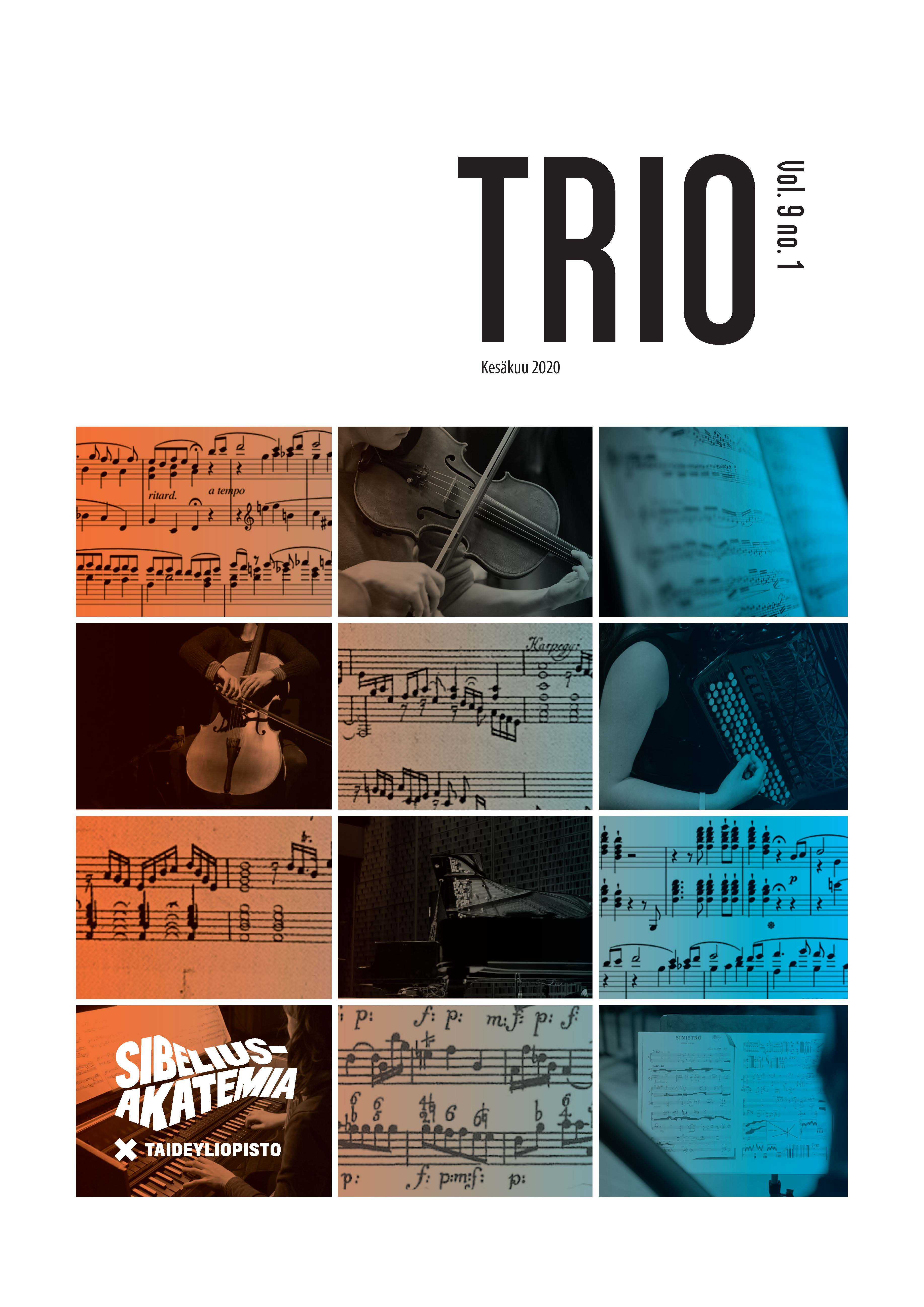 Trion kansi, the cover of Trio journal of Sibelius Academy
